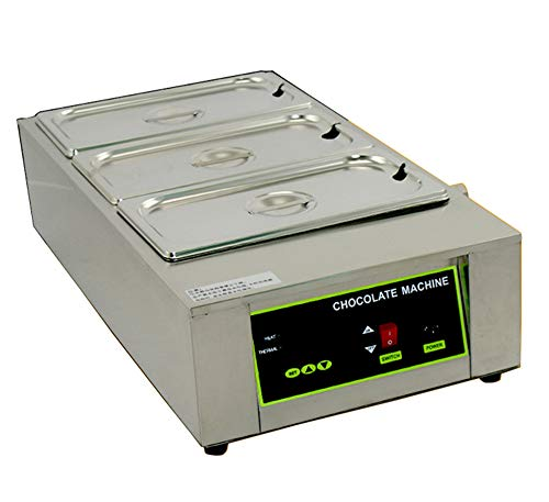 Newtry Elektrische Schokoladenschmelzmaschine mit 3 Töpfen, digital, einstellbar, 1000 W, für kommerzielle Schokolade, Temperiermaschine, Topfheizung 220v