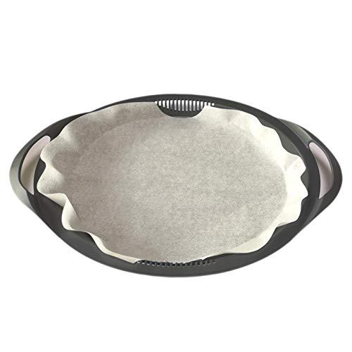 20stk Einweg Backpapier für Varoma Thermomix TM6 TM5 TM31 - Oval Dampfgar Papier 33cm Lange, Antihaft, BPA Frei, Weiß für Vorwerk Küchenmaschine Zubehör