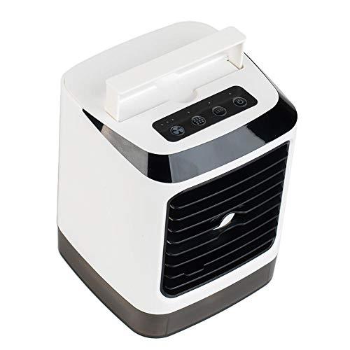 winnerruby Ventilador portátil 3 en 1, ventilador, purificador de aire, humidificador, enfriador de aire personal para dormitorio, hogar, coche, oficina, color blanco