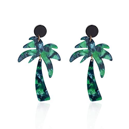 Pendientes Colgantes Pendientes De Árbol De Coco Verde Pendientes Largos para Mujer Pendientes Simples Accesorios De Fiesta para Mujer Pendientes Pendientes Fiesta Regalos del Día De La Ma