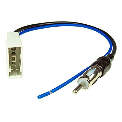 tomzz Audio 1538-000 Antennenadapter GT13 DIN Kompatibel mit Nissan Navara, Pathfinder, Tiida, Qashqai, Juke, Honda CR-V Civic Jazz