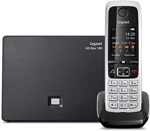 Gigaset C430A GO - Teléfono Fijo analógico (Pantalla de 1.8  TFT, Agenda telefónica 200 entradas, DECT Gap, 30 Tonos de Llamada), Plateado