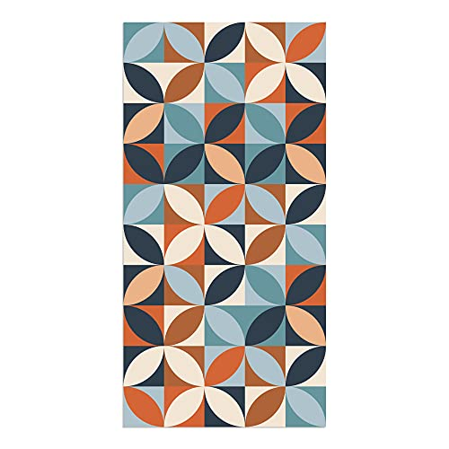 Alfombra Vinílica, 50 x 100 cm, Geométrico, Multicolor, ALV-110