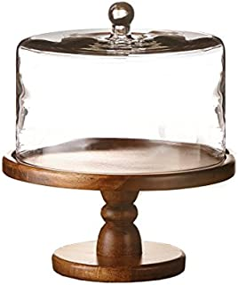 American Atelier 212766 Madera Pedestal Plate with Dome, 11.8x12.2, Brown