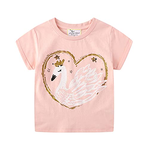 LOKKSI - Camiseta de manga corta para niños y niñas, diseño de dinosaurio, diseño de unicornio, para verano, para niños de 1 a 7 años