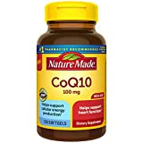 Nature Made CoQ10 100mg Softgels, Mega Size, for Heart Health, 120 Count