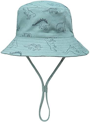 Cutemile Strandmütze Für Baby Kleinkind Unisex Kinder Atmungsaktive Mesh Futter Eimer Sonnenhut Verstellbarer Riemen UPF 50+ Fischerhut Für Jungen