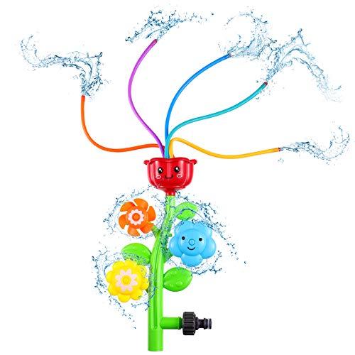 Toyvian Sprinkler für Kinder, Spinning Flower Sprinkler Pool Toy Sprinkler Wasser, Wasser wackelt Toy Swimming Pool Garden