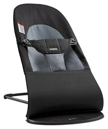 BabyBjörn Bouncer Balance Soft, Cotton, Black/Dark Gray (005022US)