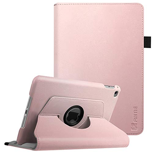 Fintie Rotating Case for iPad Mini 4-360 Degree Rotating Stand Case with Smart Cover Auto Sleep/Wake Feature for iPad Mini 4 (2015 Release), Rose Gold