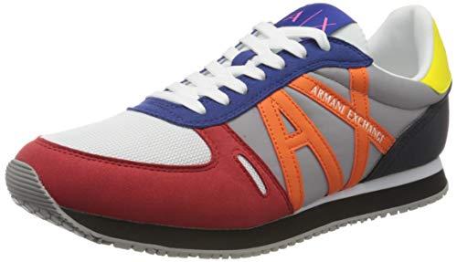 Armani Exchange Sneaker, Zapatillas para Hombre, Multicolor (Multicolor K492), 43 EU