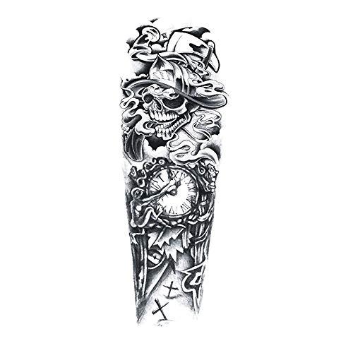 Tatuajes Temporales Para Adultos Mujer Rosa/Flor De Vid/Reloj/Engranaje, 4 Hojas Impermeable Tatuaje Adhesivos Tatuajes De Cuerpo Art Temporales Brazo Pecho Hombro Pegatinas,Carnaval Despedidas