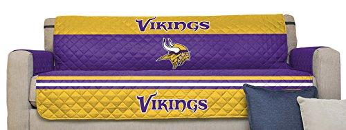 Pegasus Sports NFL Minnesota Vikings Furniture Protector with Elastic Straps, Sofa, Purple