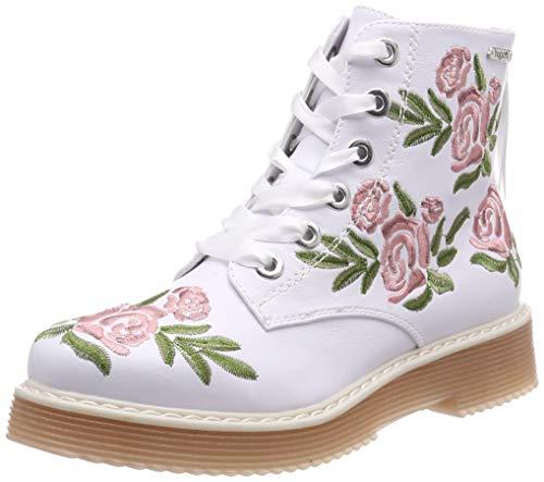 bugatti Damen 432549375900 Stiefeletten, Weiß (White/Multicolour 2081), 38 EU
