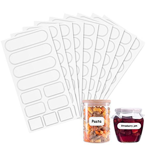 Sticky Labels for Jars, ENNIYU Self Adhesive Easy Peel Off Label, Premium Jam Jar Labels Self Adhesive No Messy Residue After Use, 3 Sizes to Fit All Types of Jars Labels