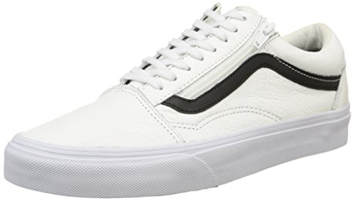 Vans Unisex-Erwachsene U Old Skool Zip Low-top, Premium Leather True Wh, 40 EU