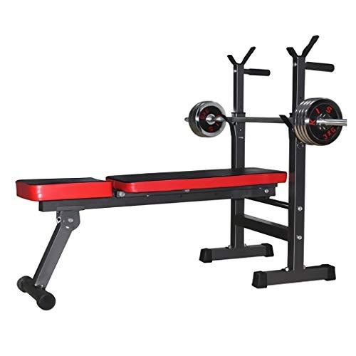 PIAOLING Multifunzione Regolabile Rack Pieghevole Fitness bilanciere e banco di Peso for Palestra di casa, Il Training Muscolare