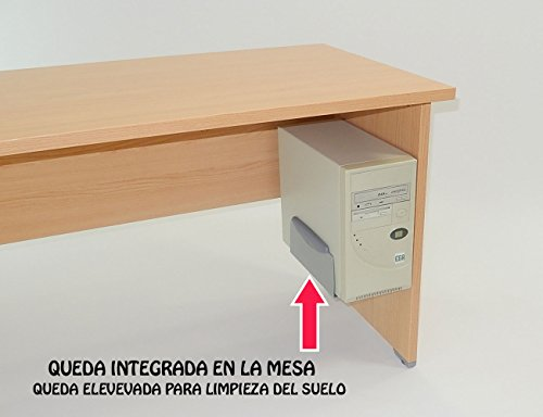 Actiu - Soporte para CPU colgado Regulable - Color Gris