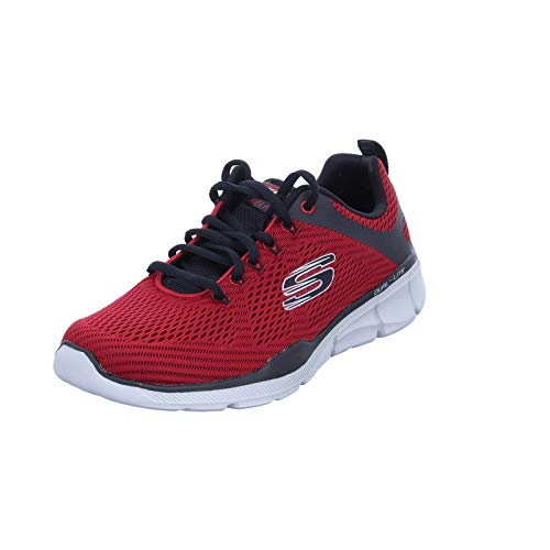 Skechers Equalizer 3.0-52972, Men's Low Top Trainers, Red (Red Black Rdbk), 11 UK (46 EU)