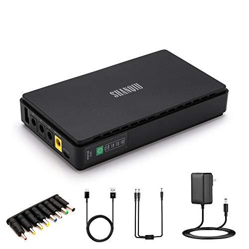 Mini UPS Unterbrechungsfreie Stromversorgung für WiFi, Router, Modem, Überwachungskamera mit Eingebaut Batterie 10000mAH Akkupack Eingang USB/DC Ausgang 5V USB 5V 9V 12V 2A DC
