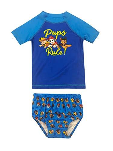 Paw Patrol Baby Boys 2 Piece Rash Guard & Swim Diapers Set Blue 6-9 Months