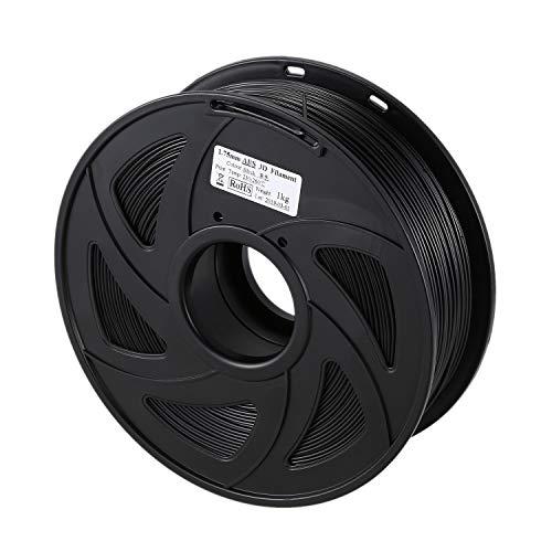 Facibom 3D Printer 1KG Printing Filament 1.75mm PLA Black,1 Roll