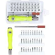 Gocheer 32 in 1 Mini cacciaviti Elettricista Kit cacciaviti di precisione Beta Set giraviti Professionali magnetici Piccoli cacciavite torx per Occhiali, orologiaio,Riparazione,Smartphone, iPhone, PC