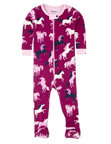 Hatley Footed Coverall-Fairy Tale Horses Grenouillère, 6-12 Mois Bébé Fille