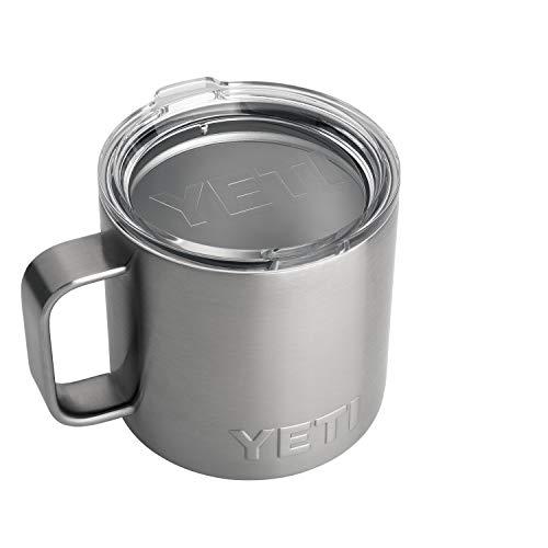 photo of a silver colored Yeti Rambler Mug