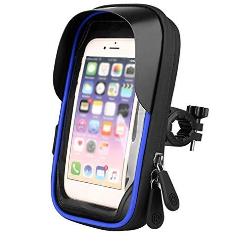 PPBB Bolsa de Soporte Impermeable Montaje teléfono Bicicleta para Funda Bolsa Transparente táctil 360 Grados giratoria Inteligente, GPS/Inteligente 6 Pulgadas