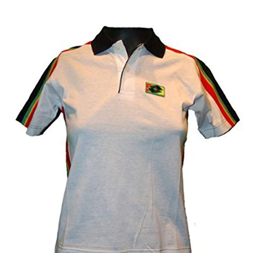 Lotto Poloshirt Becker Legend junior, Gr. L (164cm), weiß/schwarz/rot/grün/gelb