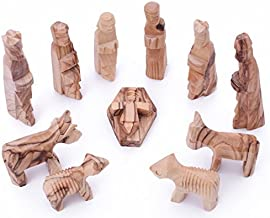 Zuluf Olive Wood Children's Nativity Set 3 inches - 12 Pieces Set