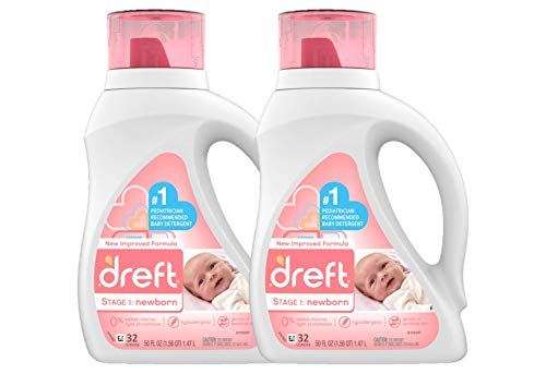 Dreft Stage 1: Newborn Hypoallergenic Liquid Baby Laundry Detergent (HE), Natural for Baby, Newborn,...
