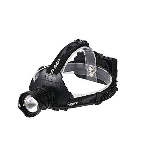 Linterna frontal LED XH P70, 5 modos, faro recargable por USB, zoom, potencia impermeable, aleación de aluminio