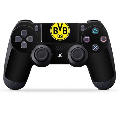 DeinDesign Skin kompatibel mit Sony Playstation 4 PS4 Controller Folie Sticker Borussia Dortmund Logo BVB