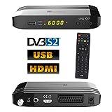 Univision UNS1001 digital Satelliten Sat Receiver (HDTV, DVB-S/S2, HDMI, Scart, Display, USB 2.0, EPG, Full HD 1080p)[vorprogrammiert für Astra Hotbird] - schwarz