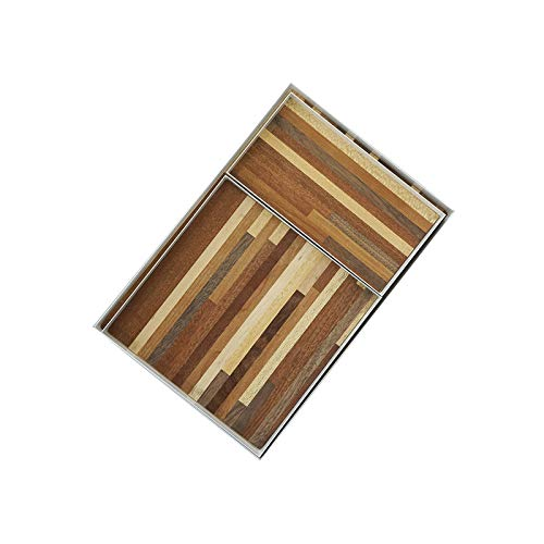 Bandeja Bandeja Bandeja de almacenamiento de granos de costura creativa estilo minimalista de alimentos y bebidas bandeja de fotos Puntales bandeja de madera hecho a mano Bandeja Antideslizante