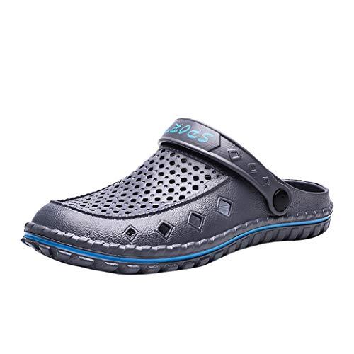Sandalen Männer Mode Wild Summer Atmungsaktive Einbeinige Schuhe Schuhe Strand (40 EU,Grau)