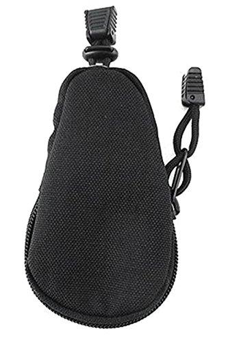 Fablcrew Estuche de Llave de Nylon de Impermeable con Cremallera y Cuerda 12 * 7cm Negro