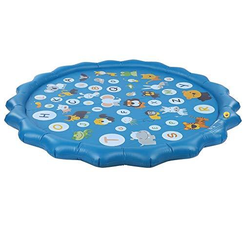 Qinlorgo Alfombra de juego de agua, ligera plegable, colchoneta inflable para reunión para relajarse.