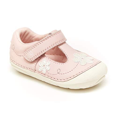 Stride Rite baby girls Soft Motion Liliana Mary Jane Flat, Pink, 4 Infant US