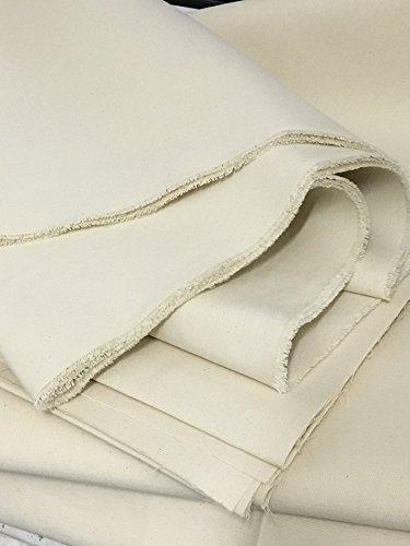 schweres Segeltuch 100% Baumwolle Natur-weiß 307 cm breit, Meterware Zeltstoff Zelt Stoff Tipi Mittelalter Sonnensegel (3,07m breit)