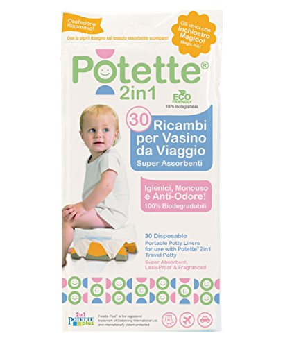 pottette Plus 2 in1 ricambi30 rodillos biodegradables