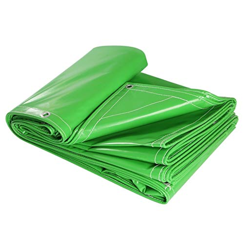 LILIS Garden Furniture Covers PVC Tarpaulin High Density Woven Heavy Duty 100% Double-sided Rainproof Tarps - 560G/M² (Size : 5X6M)