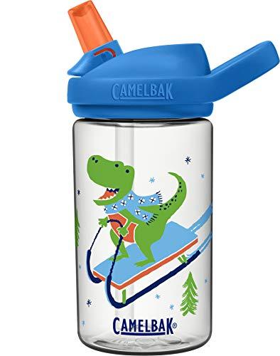 CamelBak Eddy+ Kids BPA-Free Water Bottle with Straw, 14oz, Sledding Dinos