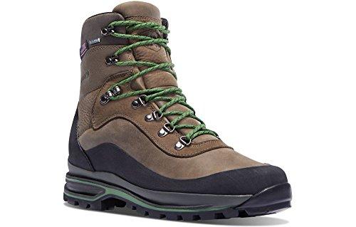 "Danner Men's Crag Rat USA 6"" Hiking Boot, Brown/Green, 12 2E US"