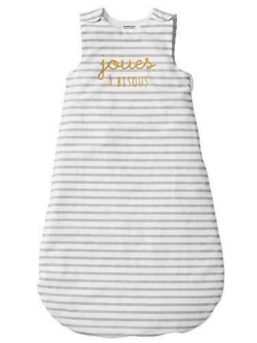Vertbaudet Baby Mädchen Schlafsack grau Graue Streifen 0/6 M