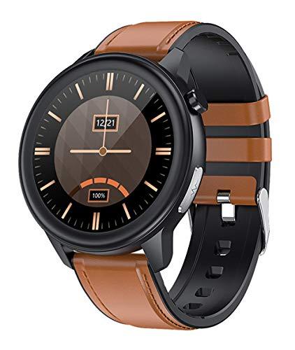 Smartwatch con Medidor de Temperatura Corporal, Reloj Inteligente Hombre Rastreador de Ejercicios a Prueba de Agua IP68 con ECG Monitor de Frecuencia Cardíaca Monitor de Sueño para IOS Android