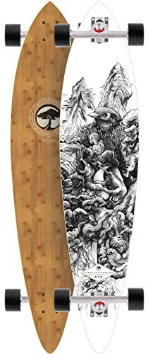 Arbor Fish Bamboo 38 2015 Complete Pintail Longboard Skateboard New On Sale by Arbor