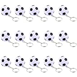 iMagitek 15 Pack Soccer Keychains for Kids Party Favors Supplies, School Carnival Prizes, Party Bag Gift Fillers, Soccer Ball Stress Relieve Ball